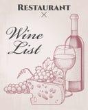 Wine list Stock Photography