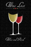 Wine list Royalty Free Stock Image