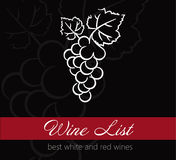 Wine list label Royalty Free Stock Photography