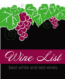 Wine list label Stock Images