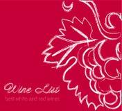 Wine list label Stock Photography