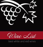 Wine list label Stock Image