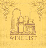 Wine list Royalty Free Stock Photo