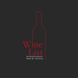 Wine List Menu Card Design template. Stock Photos