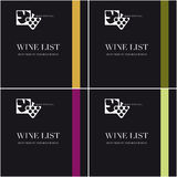 Wine List Menu Stock Photos
