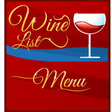 Wine list menu Royalty Free Stock Image
