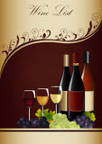 Wine List Menu Stock Image