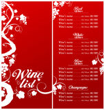 Wine List Menu template. Royalty Free Stock Photos