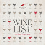 Wine List Menu template. Royalty Free Stock Image
