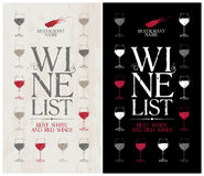 Wine List Menu template. Stock Photo