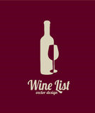 Wine list Stock Photography
