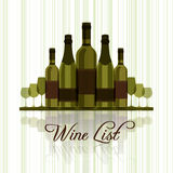 Wine list for restaurants Stock Photography