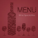 Wine list for restaurants Stock Photos
