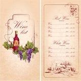 Wine list template Stock Photos