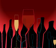 Wine List vector Royalty Free Stock Images