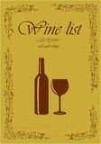 Wine list - vector illustration. Royalty Free Stock Photography
