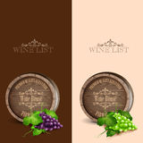 Wine list wood Royalty Free Stock Image