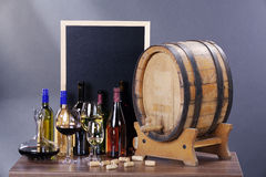Wine locations with decoration Stock Photography