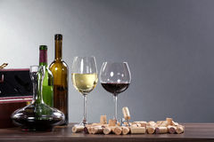 Wine locations with decoration Stock Photos