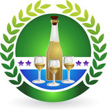 Wine logo Stock Image