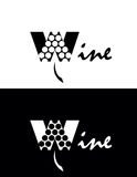 Wine logo Royalty Free Stock Photos