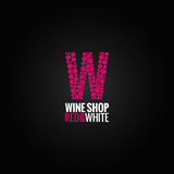 Wine logo deign background Royalty Free Stock Photography