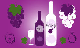 Wine logo design Stock Images