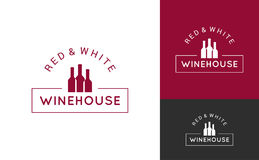 Wine logo set design background Stock Image