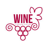 Wine logo templates Stock Image