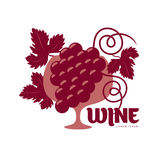 Wine logo templates Royalty Free Stock Photography