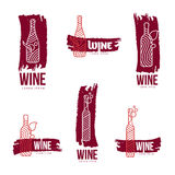 Wine logo templates Royalty Free Stock Photo