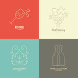Wine Logos Royalty Free Stock Photography