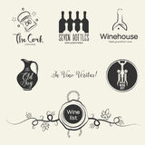 Wine logos and design elements Stock Photo