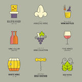 Wine Logos Royalty Free Stock Images