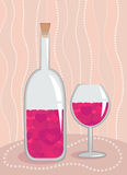 Wine with love concept Royalty Free Stock Photo
