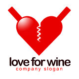 Wine Love Concept Stock Images