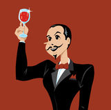 Wine lover Royalty Free Stock Photo