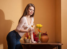 Wine lover. Stock Images