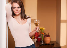 Wine lover. Stock Photos