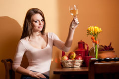 Wine lover. Royalty Free Stock Images