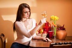 Wine lover. Stock Photo