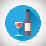 Wine Luxury Alcohol Symbol Bottle with stopper and Royalty Free Stock Photo