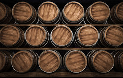 Wine making barrel 3d illustration. Wooden winemaking barrel 3d illustration Stock Photography