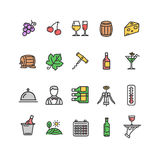 Wine Making Drink Icon Set. Vector Royalty Free Stock Photo