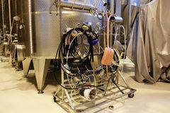 Wine making industry tools Stock Image