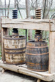 Wine making press Royalty Free Stock Images