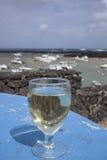 Wine at the marina royalty free stock photos