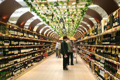 Wine market Royalty Free Stock Photos