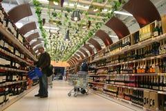 Wine market Royalty Free Stock Image