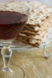Wine and Matzo Royalty Free Stock Photography